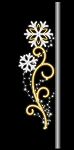 7.5' Pole Mount Two Snowflakes with Swirls