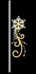 6' Pole Mount Snowflake with Swirls