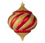 Red And Gold 100MM Onion Ornament Traditional Collection