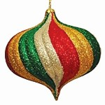 Green, Red, Gold, & Silver Christmas Ornaments