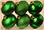 6 Pack Green Shatterproof Onion Ornaments