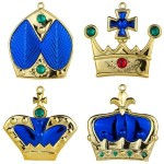 Blue Crown Ornaments 4pk