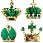 Green Crown Ornaments 4pk