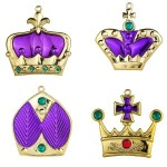 Purple Crown Ornaments 4pk