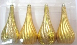 4 Pack Gold Teardrop