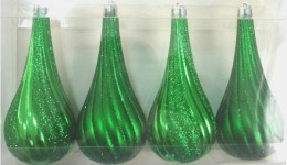 4 Pack Green Teardrop