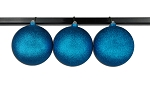 150mm Aqua Glitter Ball Ornament with Wire
