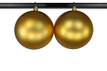200mm 8' Gold Matte Ball Ornament with Wire and UV Coating