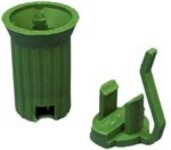 50Pk Replacable E12 C7 Green Sockets