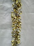 Gold and Silver 100' Metallic Tinsel Garland