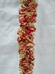 Red and Gold Metallic Tinsel Garland 100'