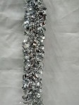 Silver Metallic Tinsel Garland 100'