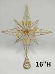 Gold Star Tree Topper 16