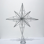 Silver Star Tree Topper 16