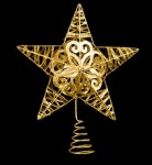 Metal Glittered Gold Star 10