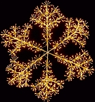 2' GOLD WALL MOUNT LED SNOWFLAKE
