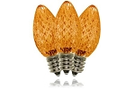 C7 Faceted Orange LED Retrofit Lamp
