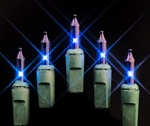 50 Blue Incandescent Mini Lights 4