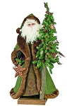 Forest Father Christmas standing with Tree 2.5'
