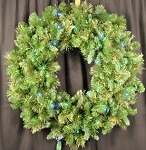 Pine 3' Wreath Lit with Multi Color Lights