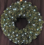 Sequoia 2' Wreath Pre-Lit with Pure White LEDs