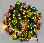 3' Sequoia Pre-Lit Wreath Decorated with the Tropical Ornament Collection
