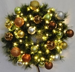 4' Sequoia Pre-Lit Wreath Decorated with the Woodland Ornament Collection