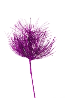 Purple Glittered Spray Branch Pick 25