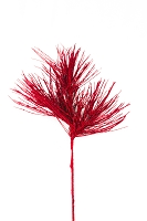 Red Glittered Spray Branch Pick 25
