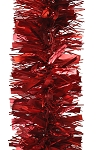 50' TINSEL GARLAND RED