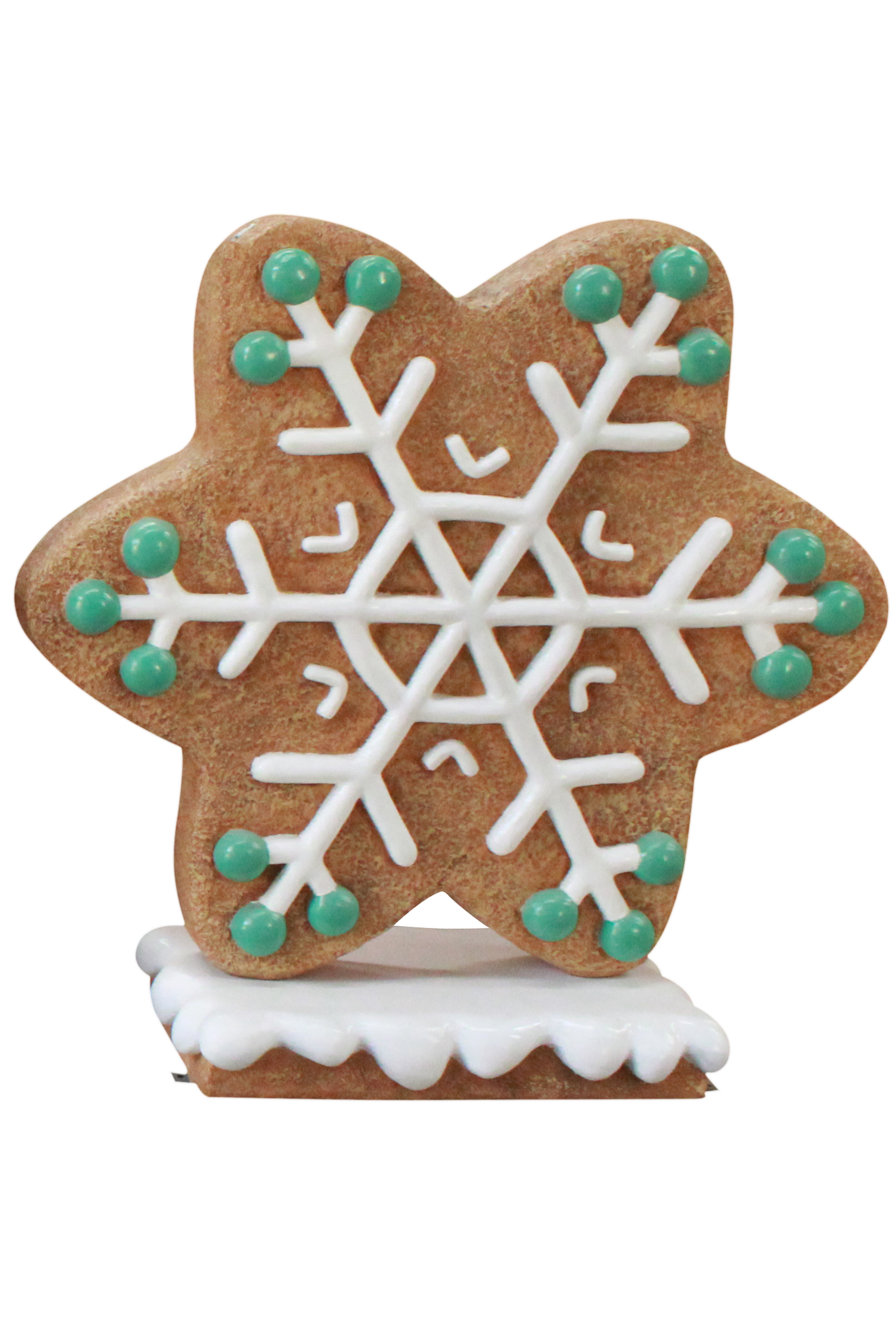 Green Gingerbread Snowflake Style 3