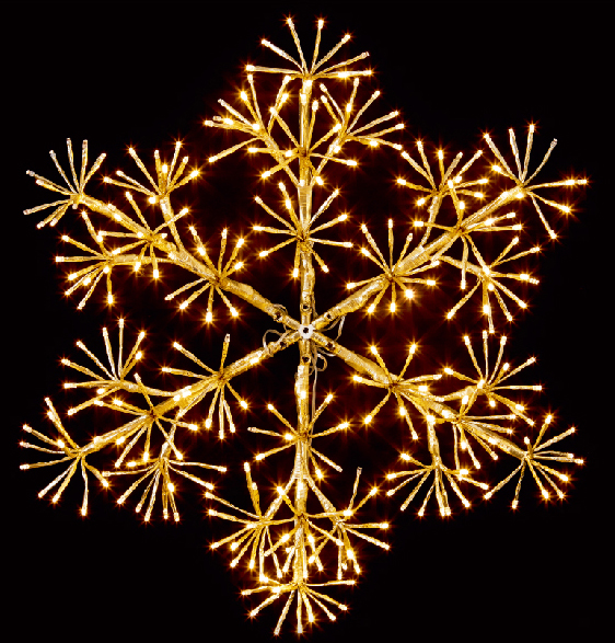 4' GOLD WALL MOUNT LED SNOWFLAKE