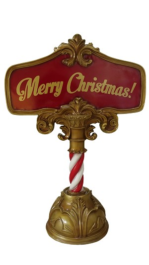 MERRY CHRISTMAS SIGN 4'